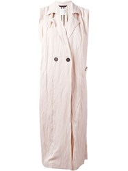 Forte Forte Long Sleeveless Coat Pink And Purple