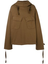 N 21 No21 Patch Pocket Hoodie Brown