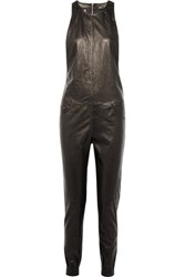 R 13 R13 Leather Jumpsuit Black