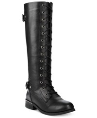 Wanted Cocktail Lace Up Riding Boots Women's Shoes Brown