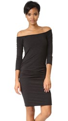 Monrow Off Shoulder Dress Black