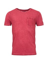 Garcia Cotton T Shirt With Chest Pocket Red