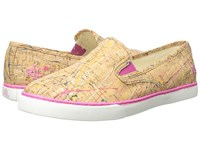 Lauren Ralph Lauren Janis Pink Yellow Multi Paint Splatter Cork Women's Slip On Shoes