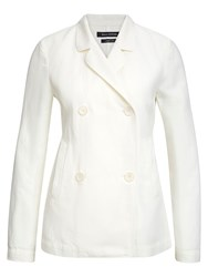 Marc O'polo Blazer In Cotton Linen Blend White