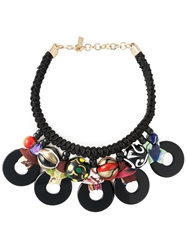 Etro Tribal Bead Rope Necklace Black