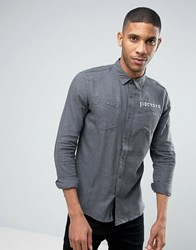 Firetrap Brushed Flannel Shirt Black