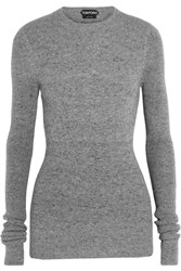 Tom Ford Ribbed Cashmere Sweater Gray