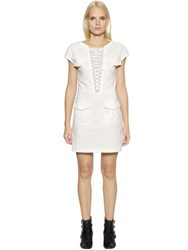 The Kooples Lace Up Stretch Cotton Dress