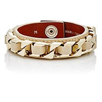 Givenchy Women's Chain And Leather Bracelet Gold