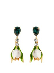 Dolce And Gabbana Citta Multicoloured Drop Earrings Gold Multi