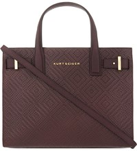 Kurt Geiger London Woven Leather Tote Wine