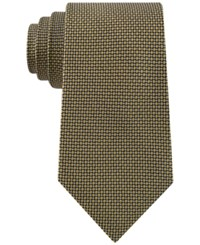Club Room Men's Micro Grid Tie Only At Macy's Yellow