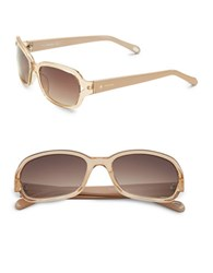Fossil 55Mm Square Sunglasses Beige