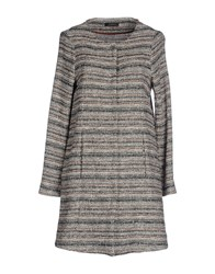 Soallure Coats And Jackets Full Length Jackets Women Grey