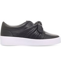 Senso Annie Leather Slip On Trainers Black