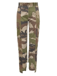 Vetements Camouflage Print Denim Jeans