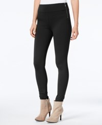 Bar Iii Side Zip Leggings Only At Macy's Deep Black