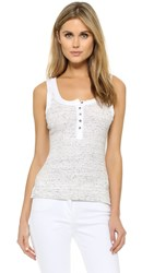 Free People Time Out Tank Ivory Black