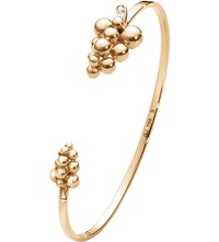 Georg Jensen Moonlight Grapes 18Ct Rose Gold And Diamond Bangle
