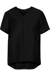 Adam By Adam Lippes Wool And Silk Blend Top Black