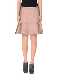 Just In Case Knee Length Skirts Beige