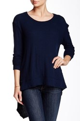 Sweet Romeo Solid Thermal Pullover Blue