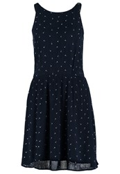 Tom Tailor Denim Summer Dress Sky Captain Blue Dark Blue