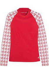 Perfect Moment Printed Stretch Rash Guard Red