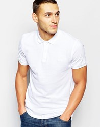 Dkny Polo Shirt Embroidered Chest Logo White