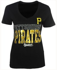 5Th And Ocean Women's Pittsburgh Pirates Lineup T Shirt Black