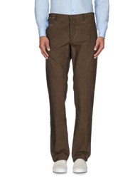 Incotex Red Trousers Casual Trousers Men Khaki