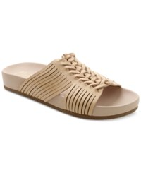 Nanette By Nanette Lepore Magda Woven Flat Slide Sandals Women's Shoes Nude