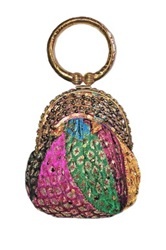 Vintage Addiction Recycled Saris Bangle Handle Clutch