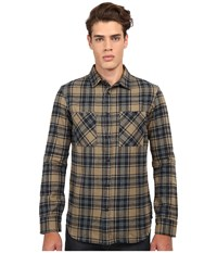 Altamont Binary Long Sleeve Flannel Putty Men's Clothing Taupe