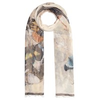 John Lewis Watercolour Butterfly Scarf Multi Neutral