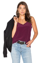 Chaser V Neck Drape Back Cami Purple