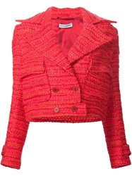 Altuzarra 'Newport' Cropped Jacket Red