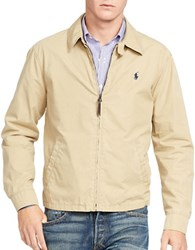 Polo Ralph Lauren Cotton Poplin Windbreaker Jacket Beige