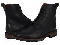 Frye James Lug Wingtip Boot Black Smooth Full Grain Men's Lace Up Boots
