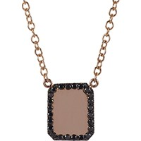 Finn Women's Black Diamond And Rose Gold Looking Glass Scapular Necklace No Color