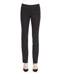 Lafayette 148 New York Houndstooth Jacquard Slim Jeans