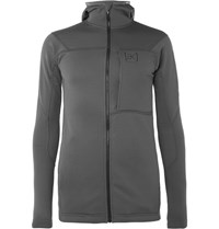 Burton Ascent Polartec Stretch Jersey Mid Layer Hoodie Gray
