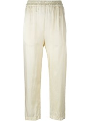 Jil Sander Elastic Waistband Trousers Nude And Neutrals