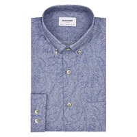 Duchamp Micro Paisley Slim Fit Shirt Powder Blue