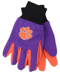 Forever Collectibles Clemson Tigers Palm Gloves Orange