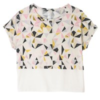 A Day In A Life Triangle Printed T Shirt