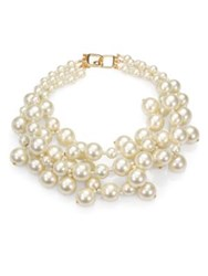 Kenneth Jay Lane Faux Pearl Multi Strand Necklace