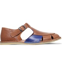 Kg By Kurt Geiger Dwight Leather Sandals Tan