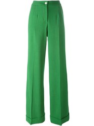 Dolce And Gabbana Flared Trousers Green