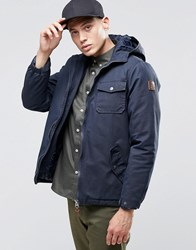 Element Freemont Parka Navy Quilted Lining Black